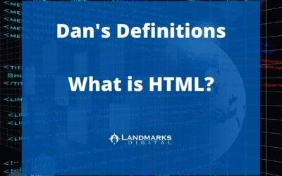 Dan's Definitions: What is HTML?